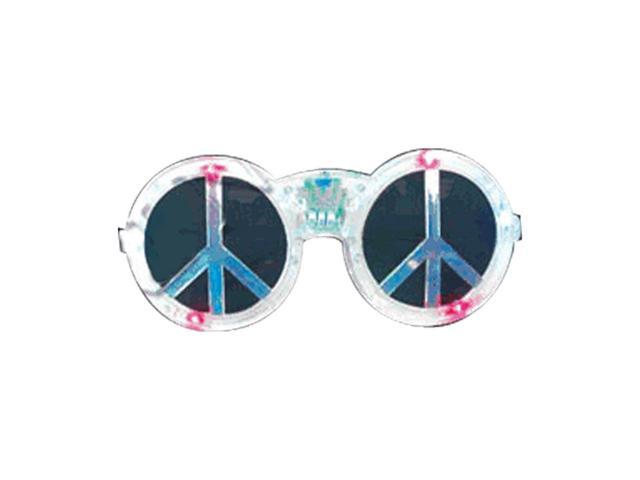 Blinkee Halloween Party Decorative Costume Peace Sign LED Sunglasses Assorted
