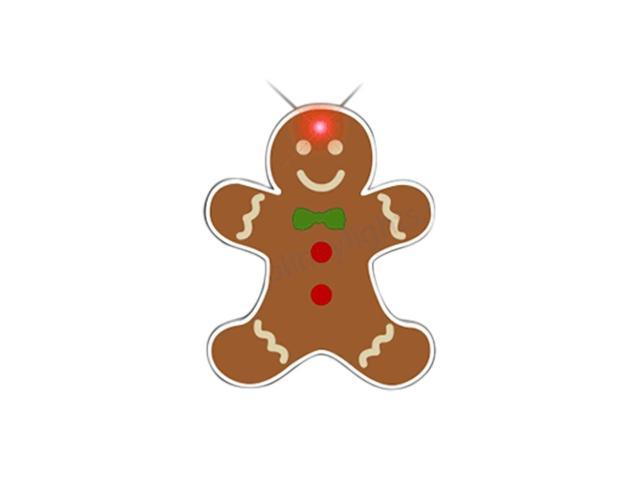 Blinkee Christmas Holiday Party Decorative Costume Accessory Gingerbread Man Body Lights