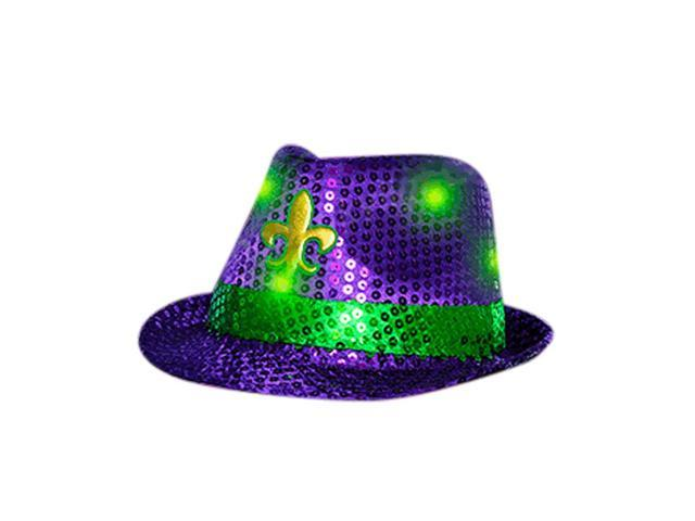 Blinkee Fashion Dance Party Decorative Costume Accessory Mardi Gras Fleur de Lis Fedora