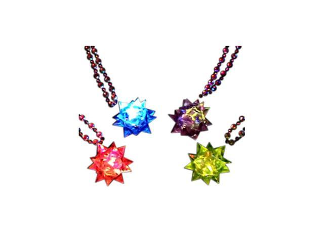 Blinkee Holiday Party Decorative Costume Accessory Beaded Crystal Star Necklace