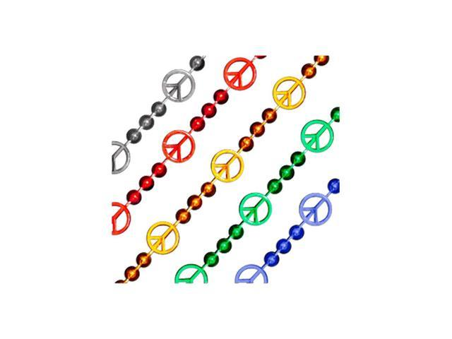 Blinkee Halloween Party Decorative Costume Accessory Peace Sign Bead Necklace Assorted