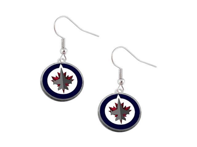NHL Winnipeg Jets Dangle Logo Earring Charm Gift Set
