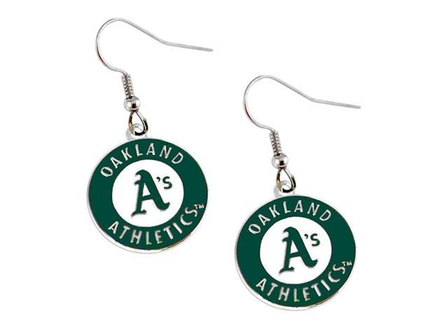 MLB Oakland Athletics MLB Dangle Logo Charm Earring Set
