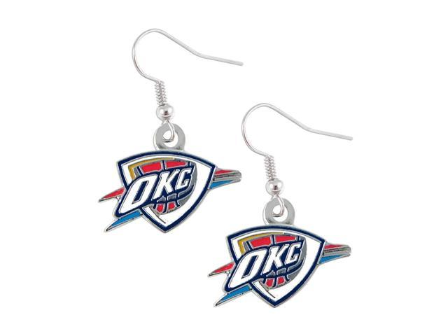 NBA Oklahoma City Thunder Dangle Logo Charm Earring Set