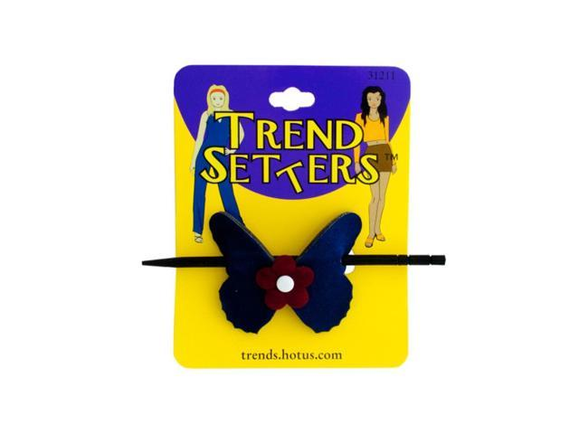 Bulk Buys Butterfly Hair Clip With Wooden Stick Pack Of 24
