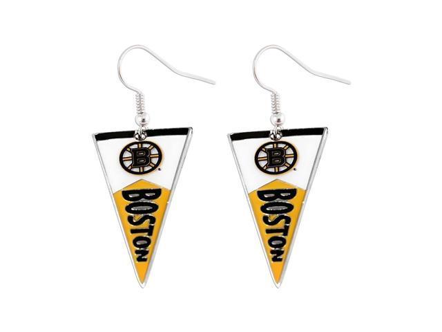 NHL Boston Bruins Pennant Earring Charm Gift Set