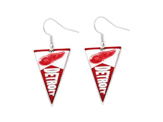 NHL Detroit Red Wings Pennant Earring Charm Gift Set