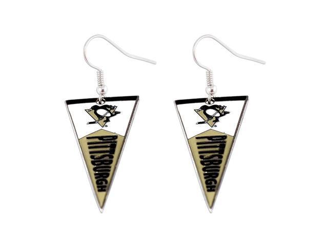 NHL Pittsburgh Penguins Pennant Earring Charm Gift Set