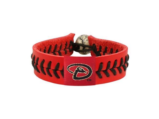 MLB Arizona Diamondbacks Team Color Gamewear Leather Baseball Bracelet Charm Gift Set