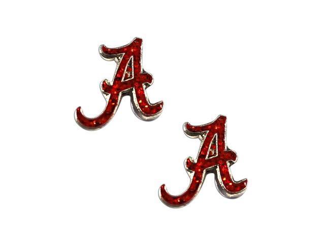NCAA Alabama Crimson Tide Glitter Post Stud Earring Charm Gift Set