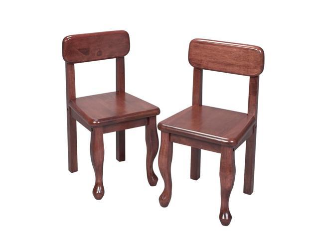 Gift Mark A Pair of Queen Anne Kids Children Chairs Cherry