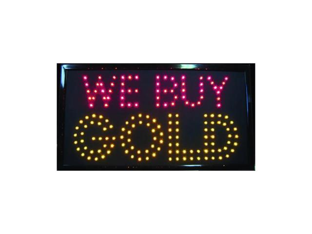 RM-RM-M&M Retail  P.O.P. We Buy Gold LED Sign 13