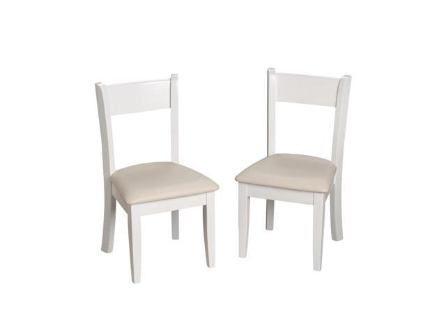 Gift Mark Children's White Chair Set with Upholstered Seat (Matches Set 23004W)