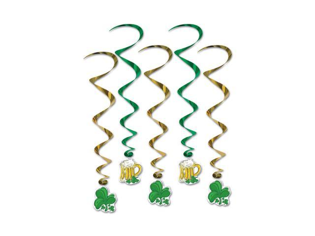 Beistle Home Party Supplies St Patrick Whirls 3' 4