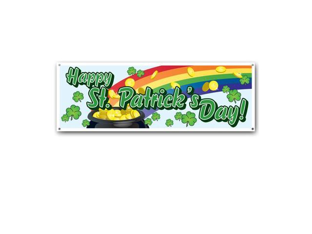 Beistle Home Party Supplies Happy St Patrick's Day! Sign Banner 5' x 21