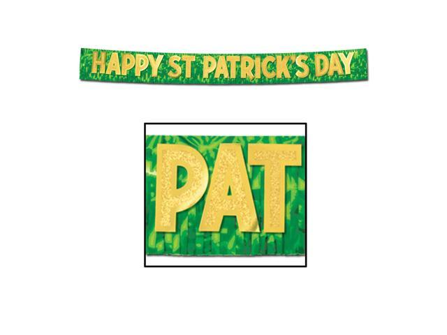 Beistle Home Party Supplies Metallic Happy St Patrick's Day Banner 10