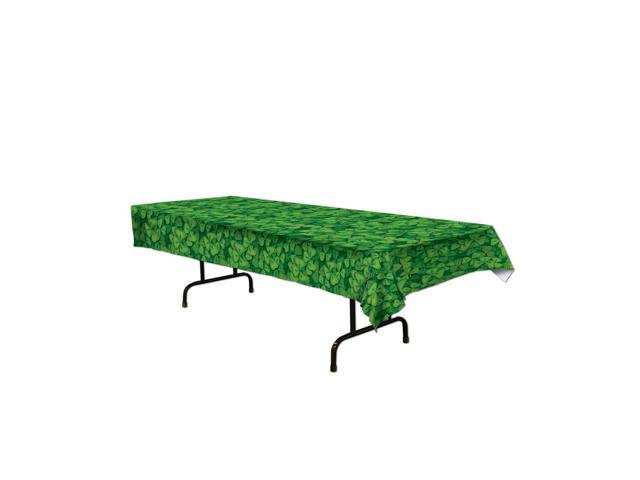Beistle Home Party Supplies Shamrock Tablecover 54