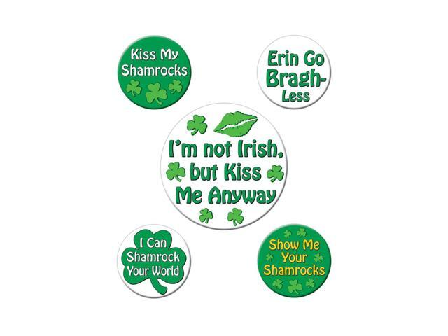 Beistle Party Supplies St Patrick's Funny Party Buttons 2-1/3