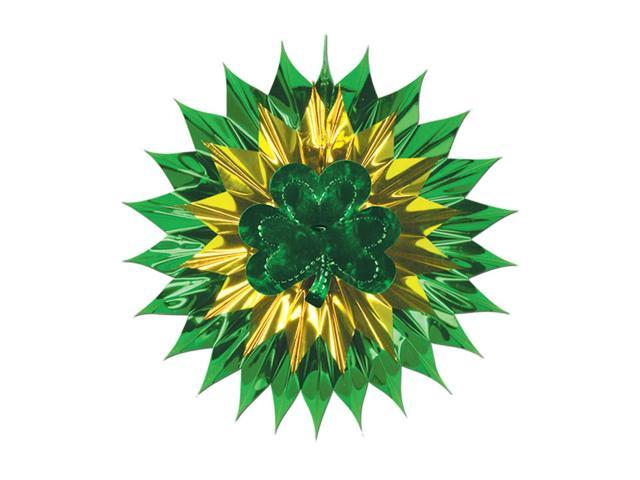 Beistle Home Party Supplies Shamrock Fan-Burst 15