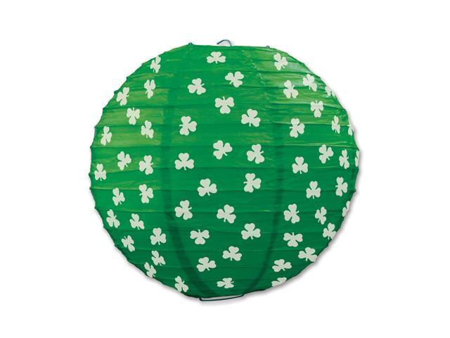 Beistle Home Party Supplies Shamrock Paper Lanterns 9 1/2
