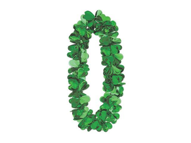 Beistle Home Party Supplies Flashy Foil Shamrock Lei 40