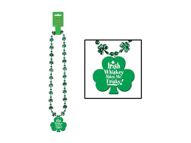 Beistle Home Party Supplies Beads with Whiskey Makes Me Frisky! Medal 36