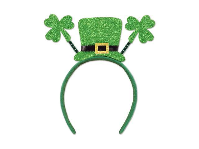 Beistle Home Party Supplies Glittered Shamrock Boppers with Top Hat