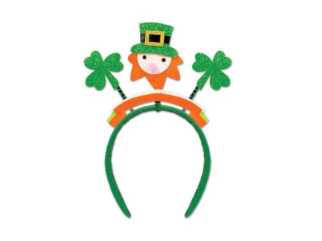 Beistle Home Party Supplies Glittered Shamrock Boppers with Leprechaun