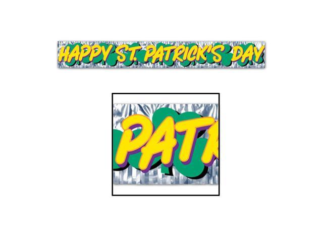 Beistle Home Party Supplies Met Happy St Patrick's Day Fringe Banner 8