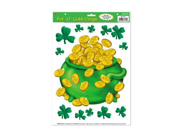 Beistle Home Party Supplies Pot-O-Gold Clings 12
