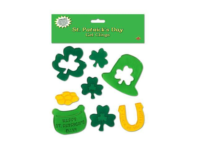 Beistle Party Supplies St Patrick's Day Gel Clings 7 1/2