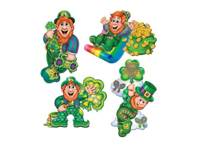 Beistle Home Party Supplies Pkgd Leprechaun Cutouts 14