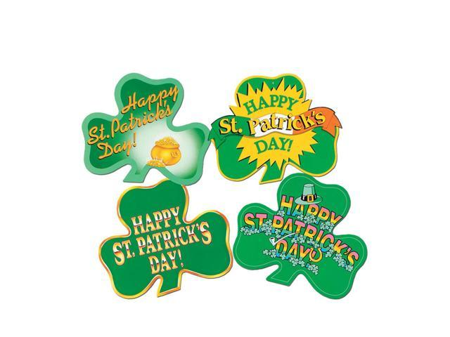 Beistle Home Party Supplies Pkgd St Patrick's Day! Shamrock Cutouts 16