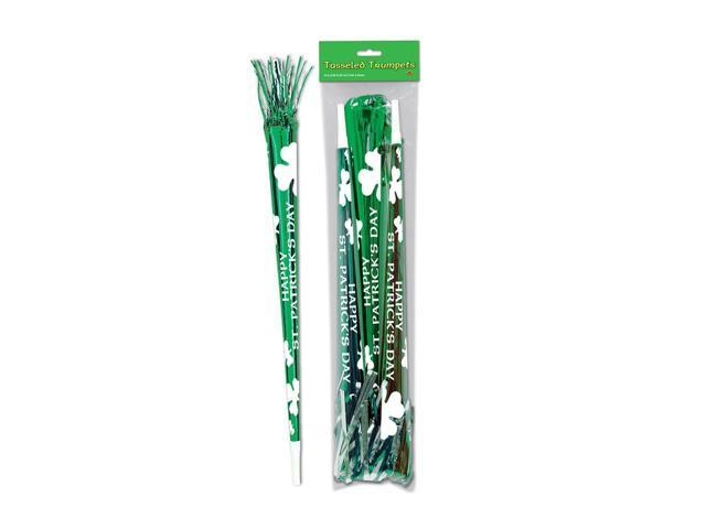 Beistle Home Party Supplies Pkgd St Patrick Tasseled Trumpets 25