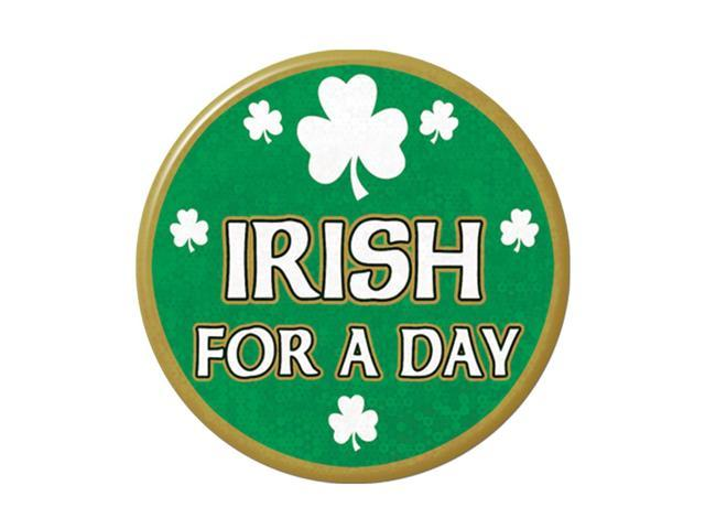 Beistle Home Party Supplies Irish For A Day Button 3 1/2