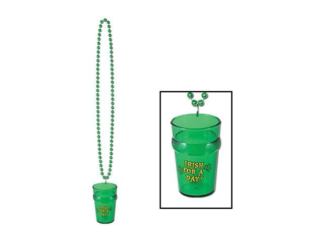 Beistle Home Party Supplies Beads with St Pat's Glass 33