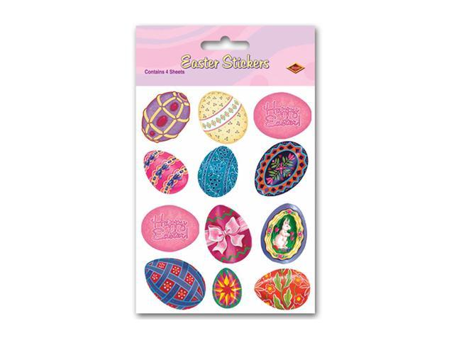 Beistle Home Party Supplies Easter Egg Stickers 4 3/4