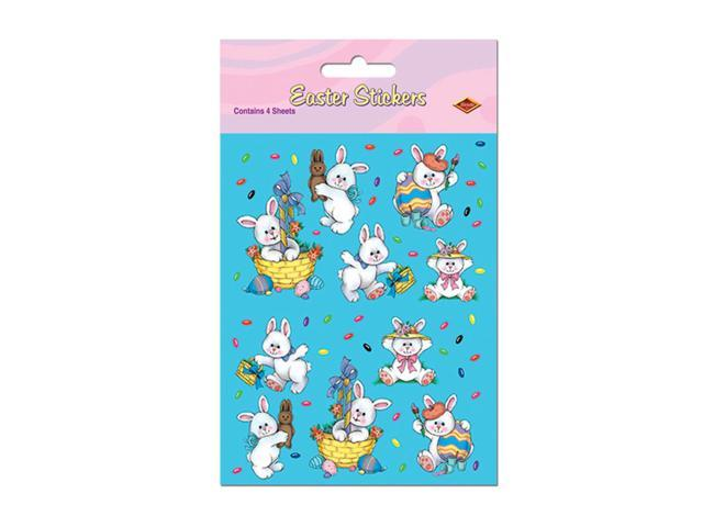 Beistle Home Party Supplies Easter Bunny Stickers 4 3/4