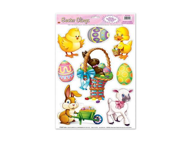 Beistle Home Party Supplies Easter Animal Clings 12