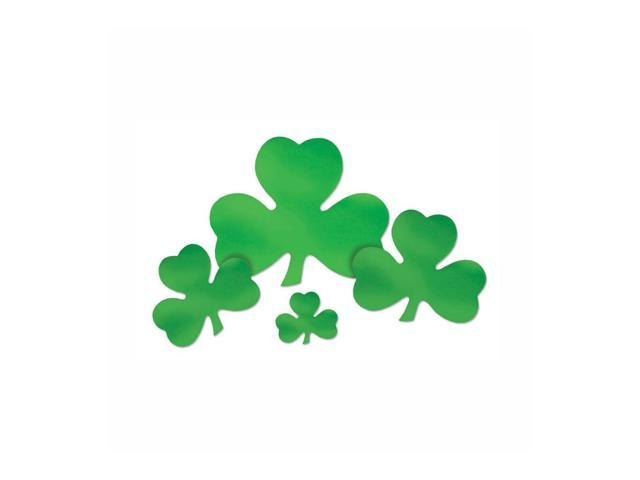 Beistle Home Party Supplies Foil Shamrock Cutout 5