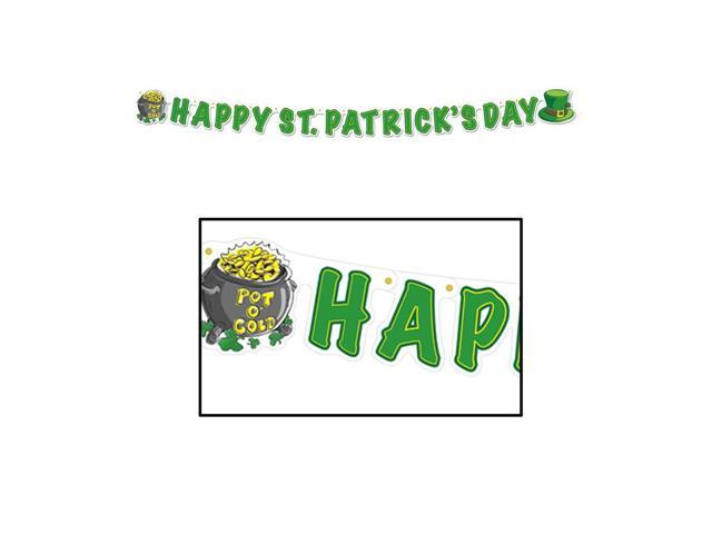 Beistle Home Party Supplies Happy St Patrick's Day Streamer 5