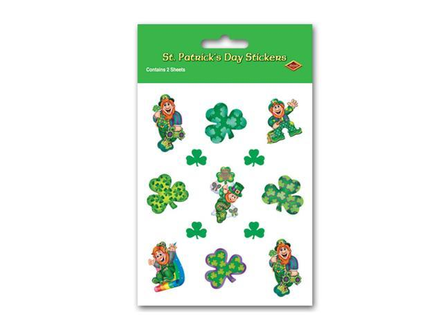 Beistle Home Party Supplies Leprechaun Stickers 4 3/4