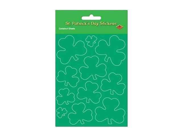 Beistle Home Party Supplies Shamrock Stickers 4 3/4