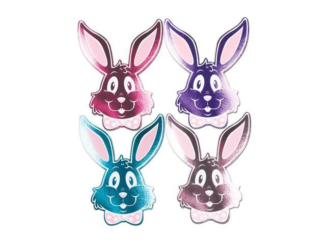 Beistle Home Party Supplies Foil Bunny Silhouettes 15