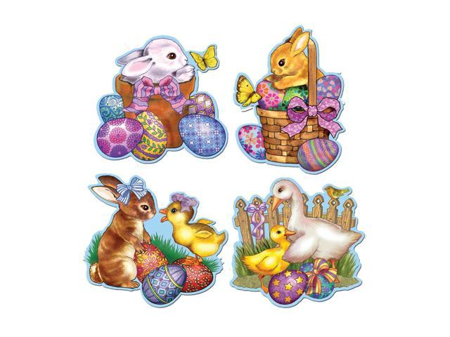 Beistle Home Party Supplies Pkgd Easter Cutouts 13 1/2