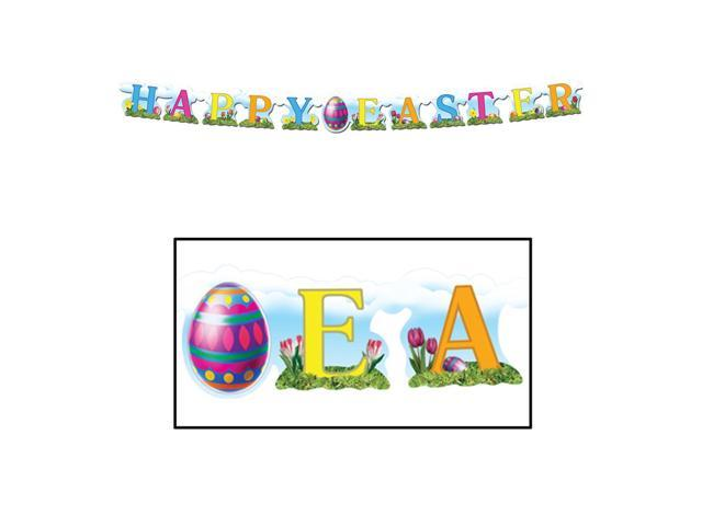 Beistle Home Party Supplies Happy Easter Streamer 4 1/2