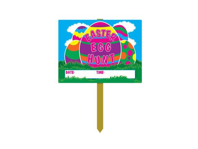 Beistle Home Party Supplies Plastic Easter Egg Hunt Yard Sign 11