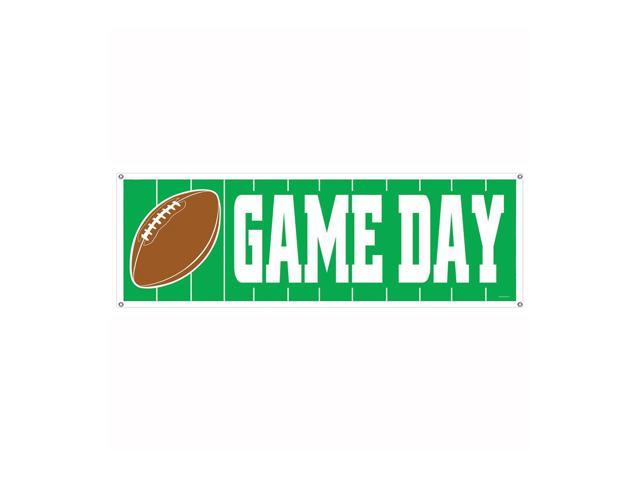 Beistle Home Party Supplies Game Day Football Sign Banner 5' x 21