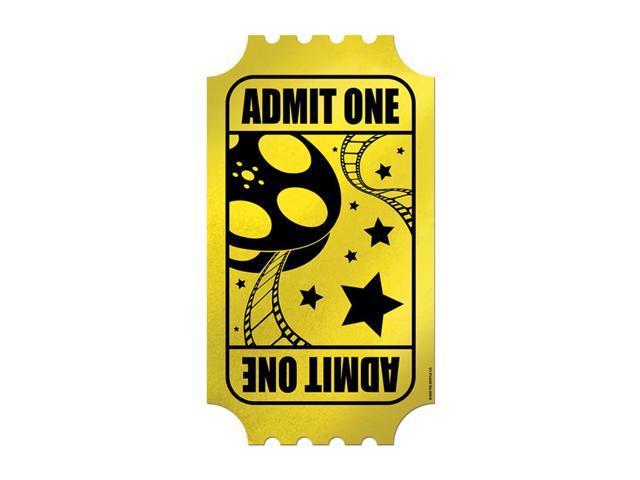 Beistle Home Festival Party Supplies Foil Golden Ticket 15