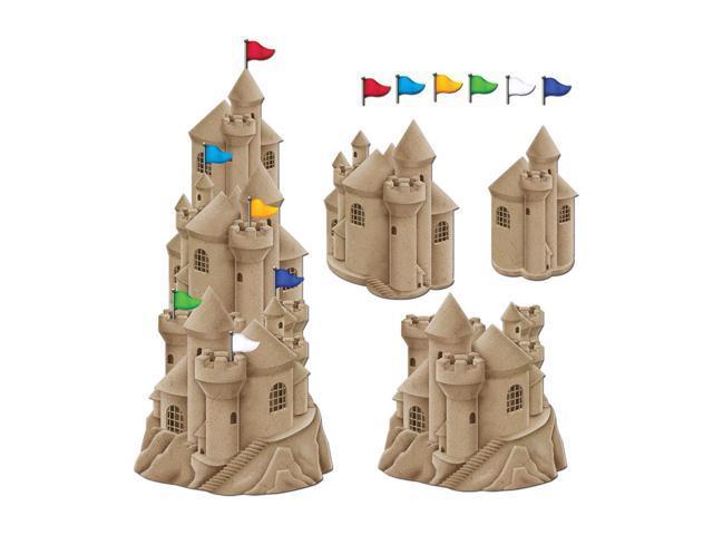 Beistle Home Festival Party Supplies Stackable Sandcastle Cutouts 16 1/2